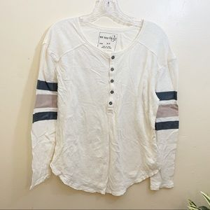 We the Free Long Sleeve Top Cotton Sz Small Flaw
